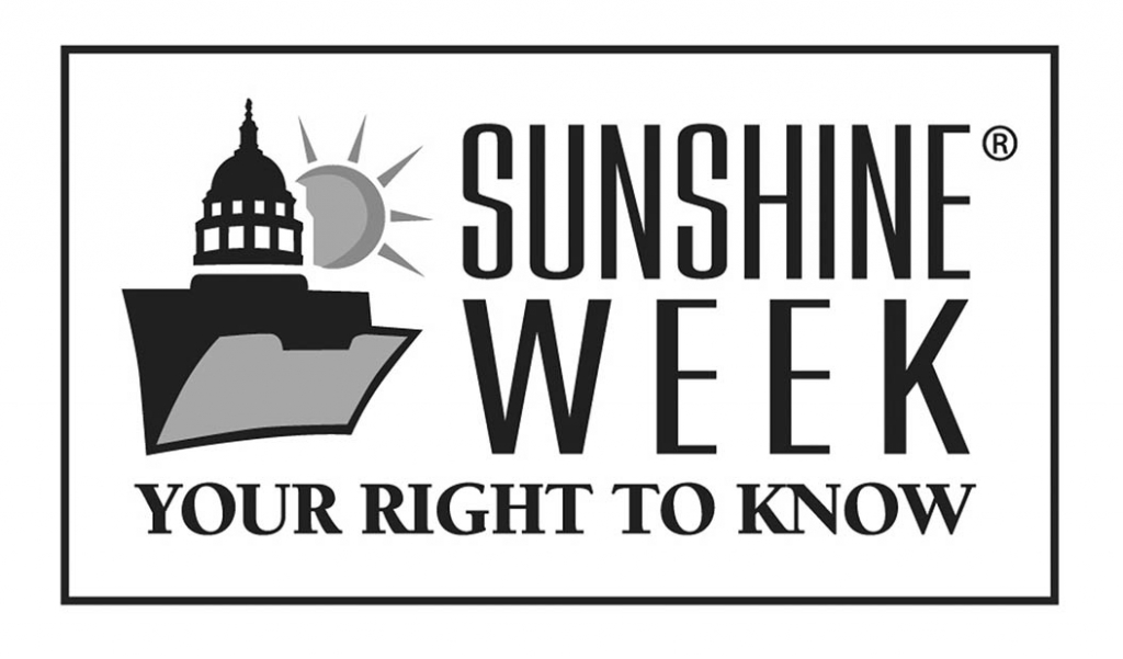 This week is National Sunshine Week, which recognizes the laws-- called Sunshine Laws--enshrined in the Federal and State Constitutions, ensuring the...
