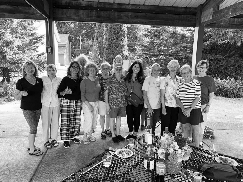 The Mazo Muddlers, a group of local, politically active women, recently gathered on the Mazomanie Promenade to honor the Base Camp Cafe and show...