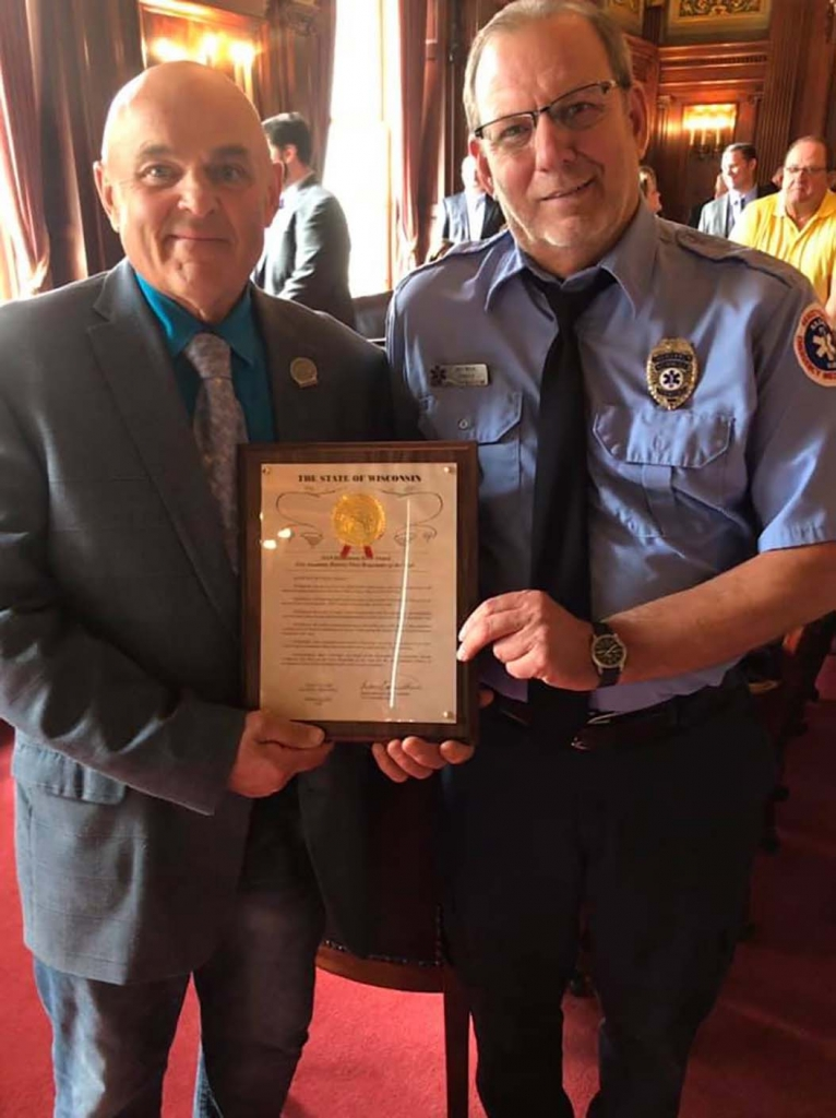 Jim Wick was honored as the First Responder of the Year for the 81st Assembly District. Wick was invited onto the Assembly floor for a ceremony and...