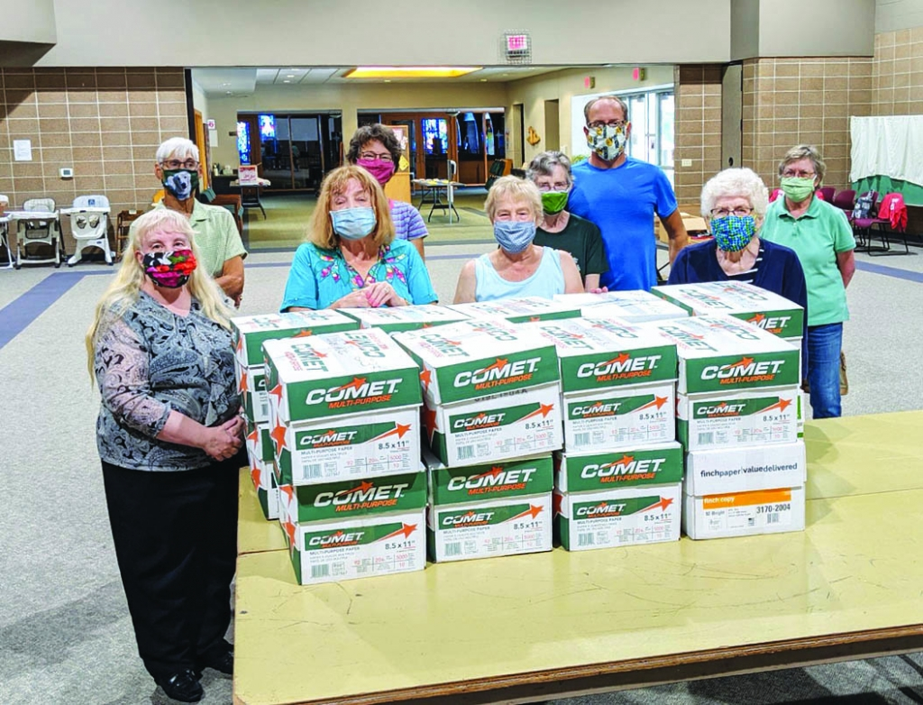 A group from St. John's Lutheran Church in Prairie du Sac completed their annual backpack project. They completed 203 backpacks this year....