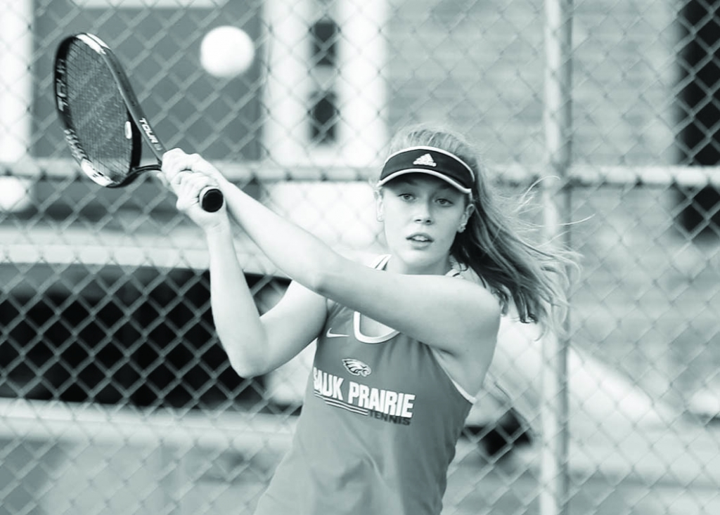Sauk Prairie's girls tennis team continued its terrific start to the 2020 season.The Eagles won three of four matches last week, downing Fort...