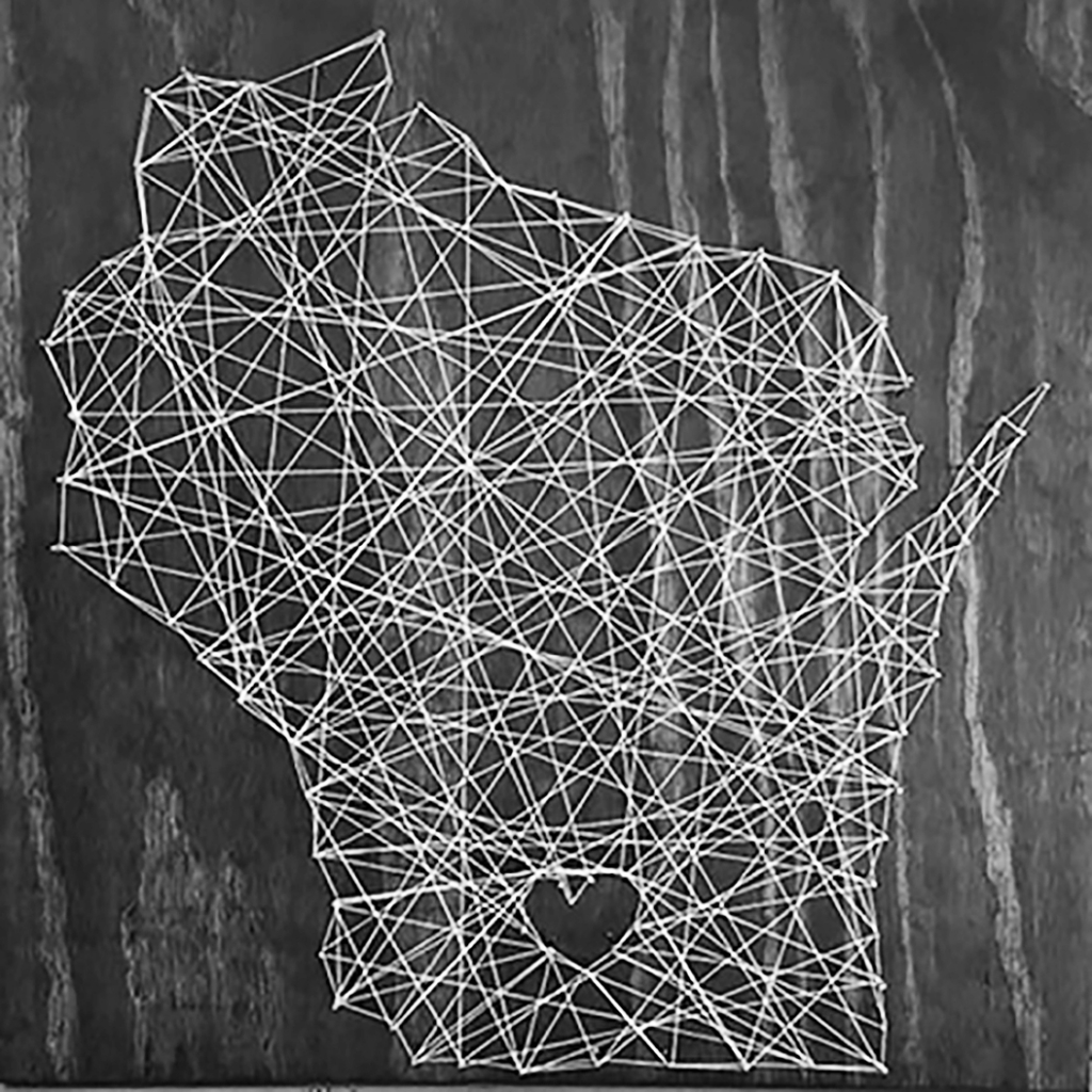 """River Arts Inc invites you to attend """"Crafts & Drafts: Choose Your Own String Art"""", a workshop for adults 21+ on Friday, August 21,..."""